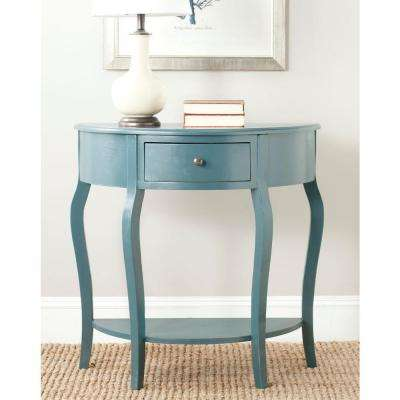 Jan Demilune Navy Storage Console Table