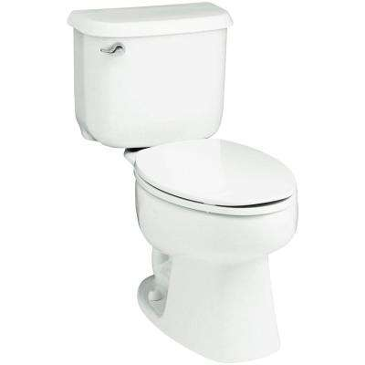 Windham 10 in. Rough-In 2-piece 1.6 GPF Single Flush Elongated Toilet in White