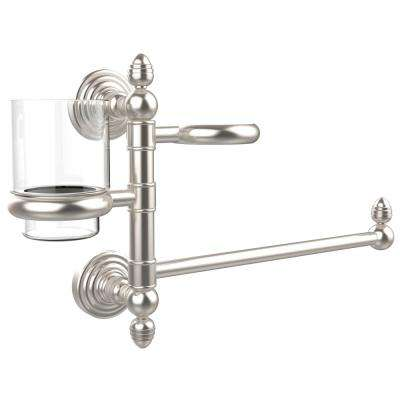 Waverly Place Collection Hair Dryer Holder and Organizer in Satin Nickel