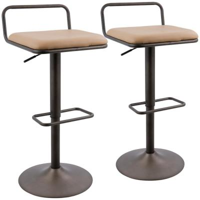 Beta Industrial Antique and Camel Faux Leather Barstool (Set of 2)