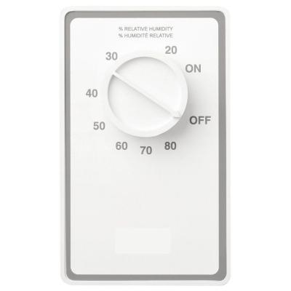 Dehumidistat Wall Control Switch in White