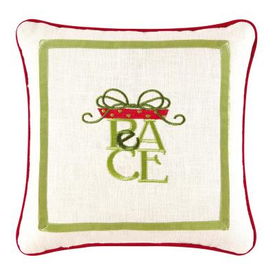 Green 10 in.  x 10 in.  Peace Pillow