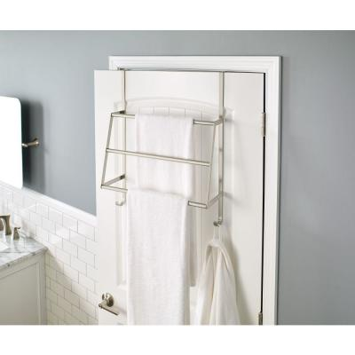 Over-the-Door 3-Bar Towel Rack in Brushed Nickel