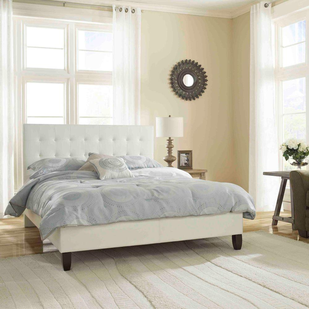 Rest Rite Mckenzie White Queen Upholstered Bed