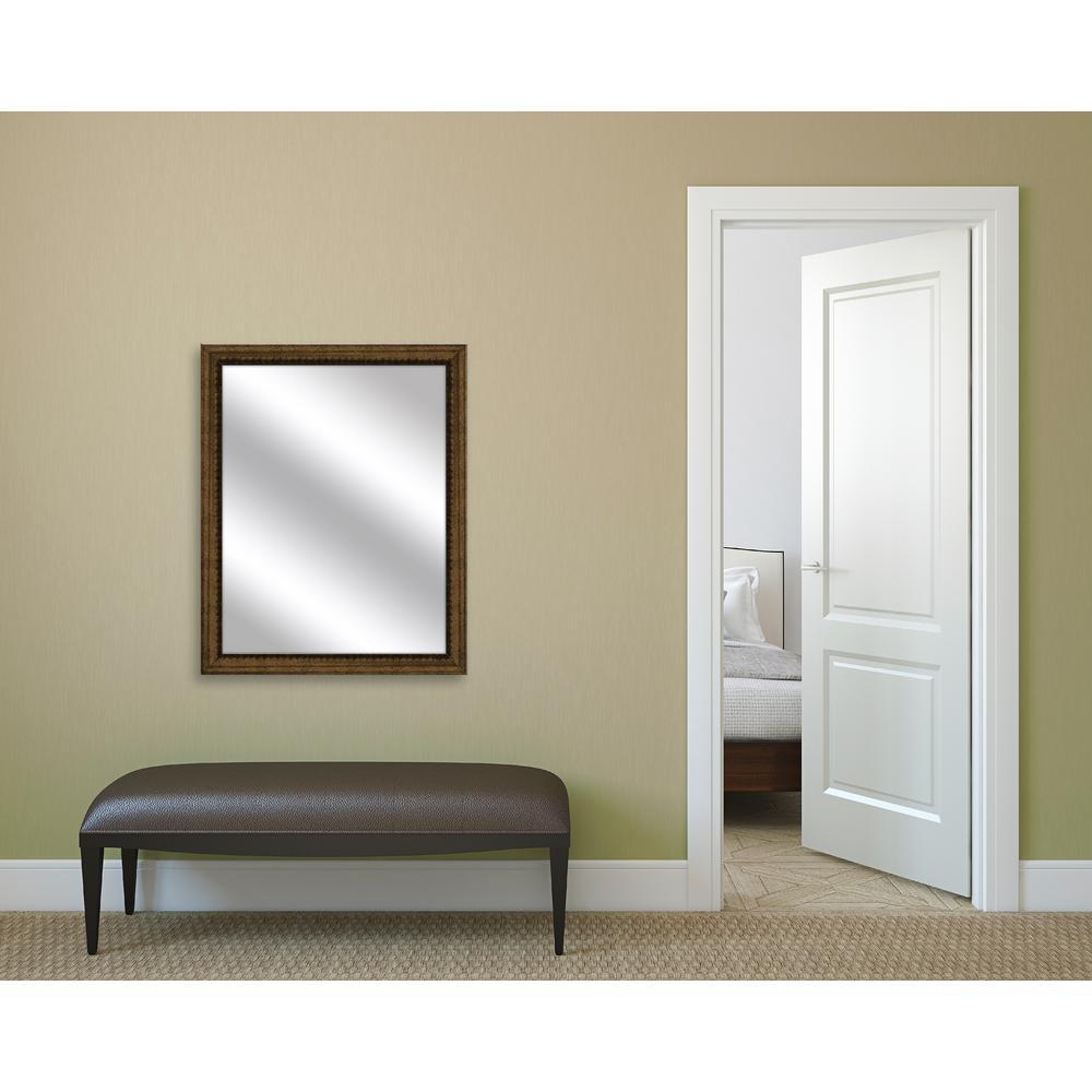 30.75 in. x 24.75 in. Dark Gold Framed Mirror