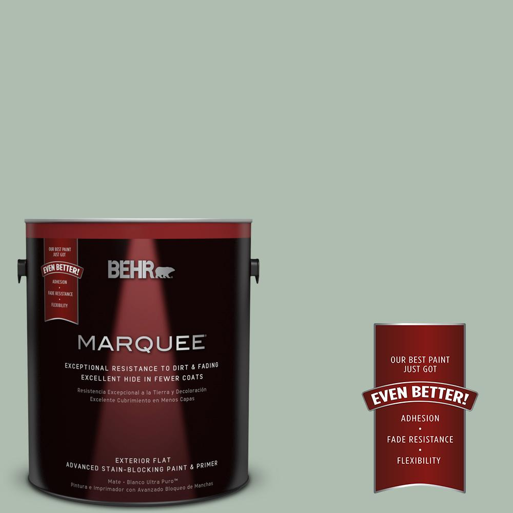 BEHR MARQUEE 1-gal. #450E-3 Southern Breeze Flat Exterior Paint