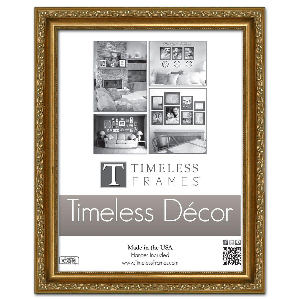 Timeless Frames Carrington 1-Opening 11 in. x 14 in. Gold Picture Frame