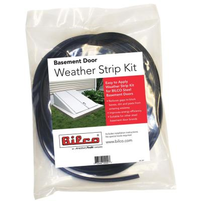 1 in. x 1 in. Black Weather Strip Kit for Cellar Door