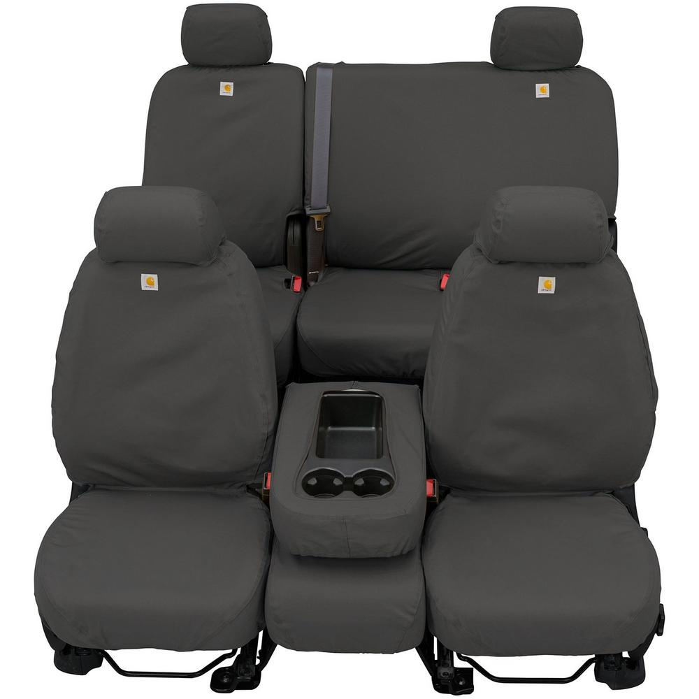Gravel Covercraft Carhartt SeatSaver Second Row Custom Fit Seat Cover for Select Jeep Cherokee Models Duck Weave SSC8435CAGY