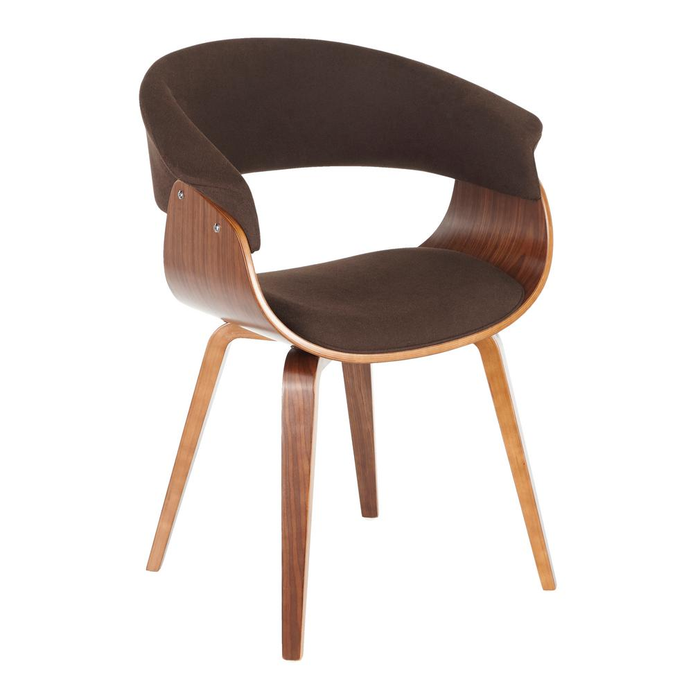 Lumisource Vintage Mod Walnut And Espresso Dining Accent Chair