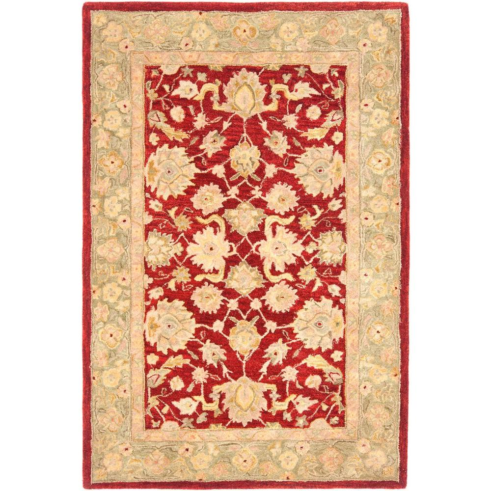 Safavieh Anatolia Red/Moss 4 ft. x 6 ft. Area Rug