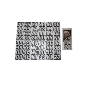 2 inch Factory Matched Snowmobile Registration Kits in Black/Silver by