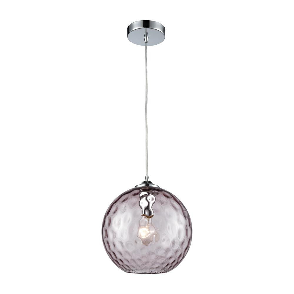 Titan Lighting Watersphere 1-Light Polished Chrome with P...