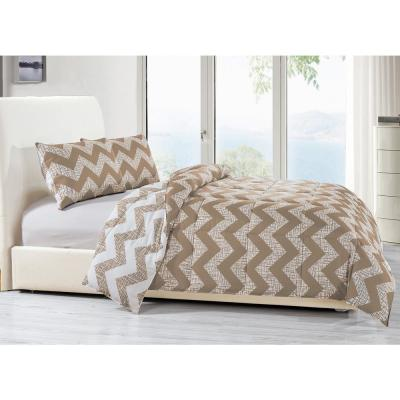 Wyatt 3-Piece Taupe Full/Queen Comforter Set