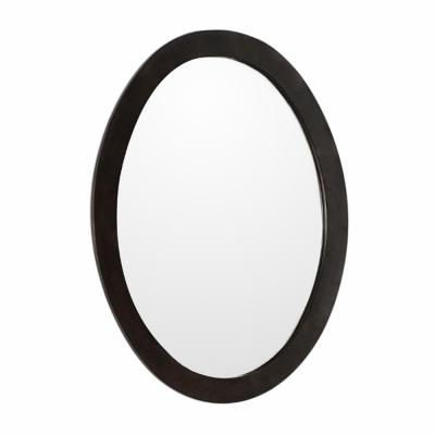 Lazio 22 in. W x 28 in. H Framed Oval Bathroom Vanity Mirror in Sable Walnut
