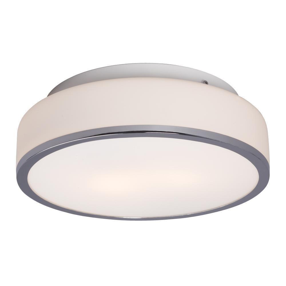 Negron 2-Light Chrome Incandescent Flushmount
