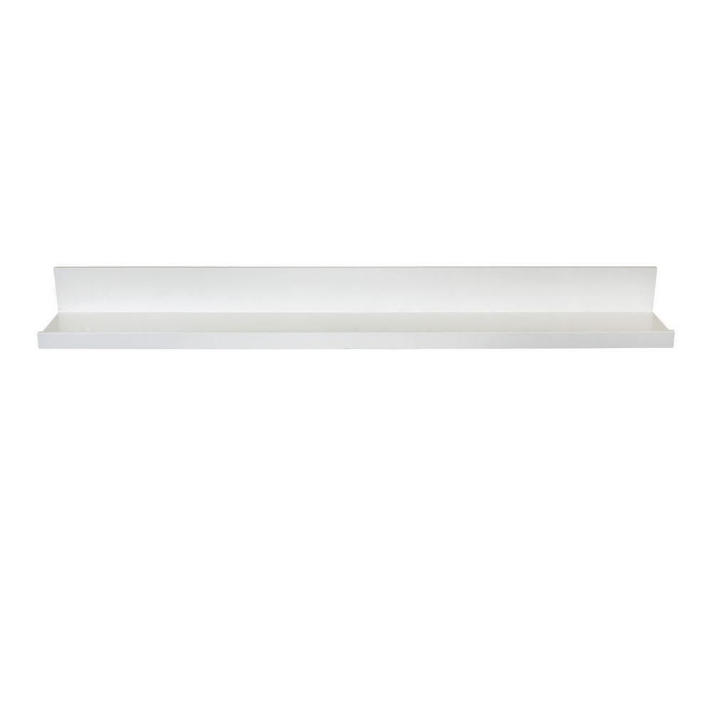 Lewis Hyman 35.4 in. W x 4.5 in D x 3.5 in H White MDF Picture Ledge Floating Wall Shelf