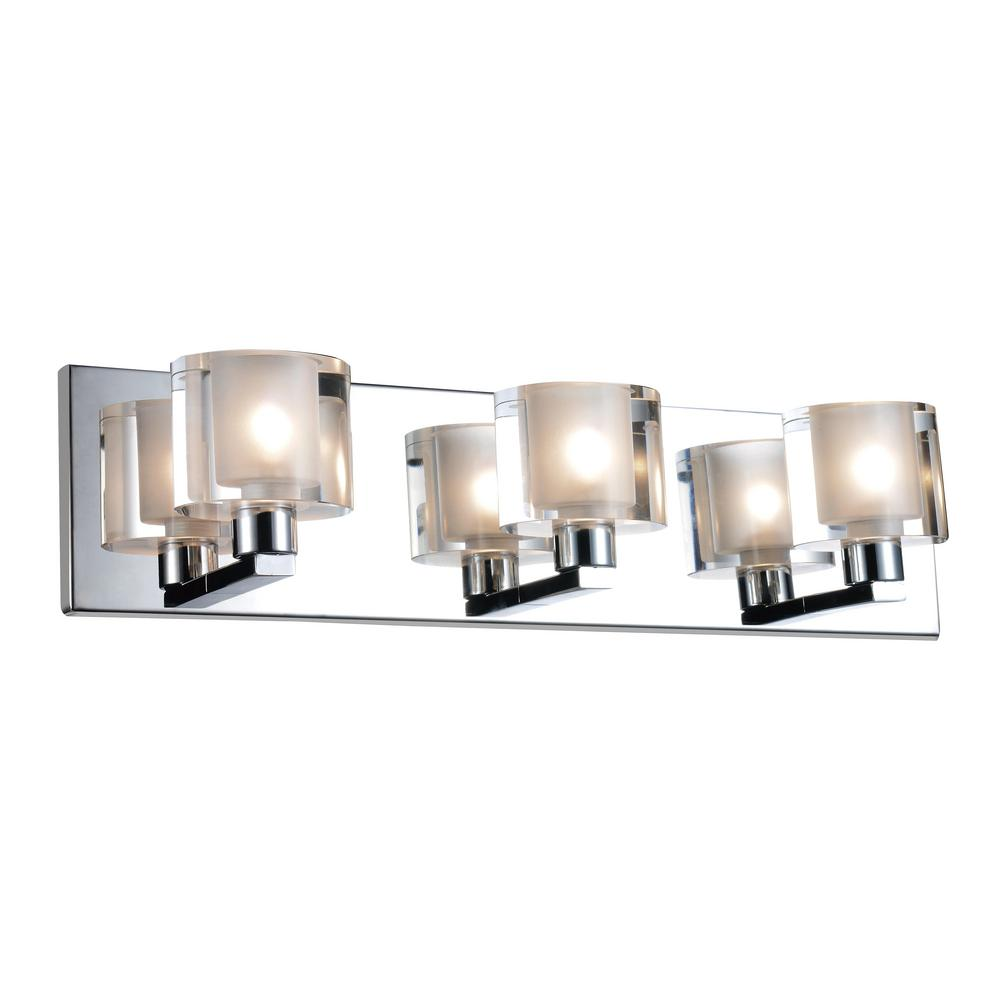 CWI Lighting Tina 3-Light Satin Nickel Sconce