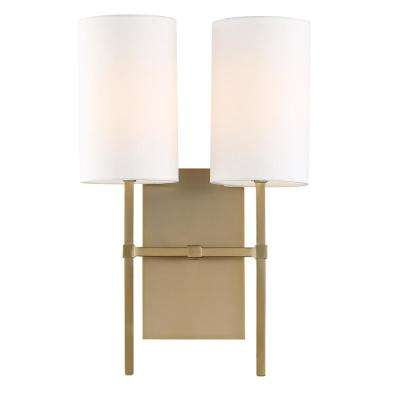 Veronica 2-Light Aged Brass Sconce