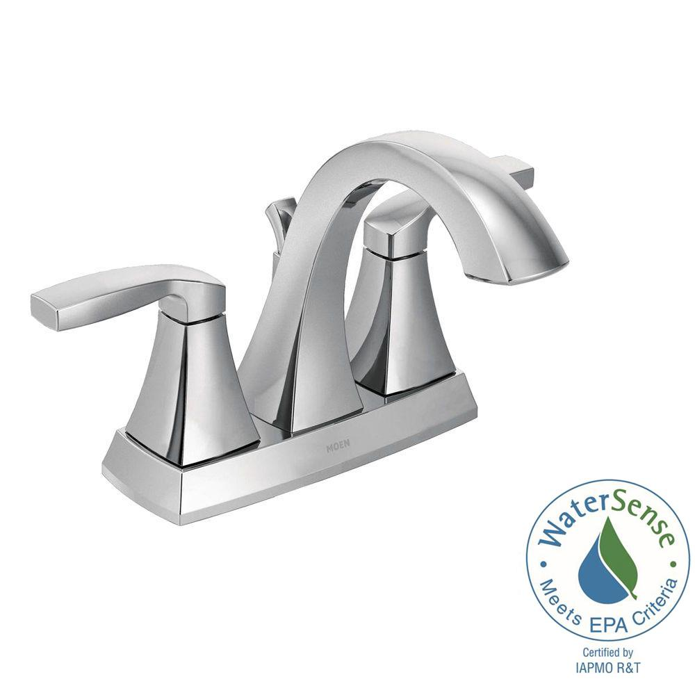 Voss 4 In Centerset 2 Handle Bathroom Faucet Chrome