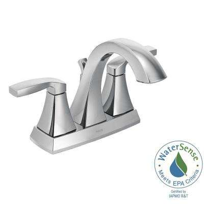 Voss 4 in. Centerset 2-Handle Bathroom Faucet in Chrome