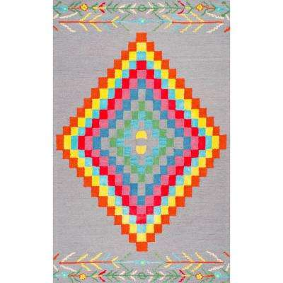 Damask Tilda Multi 8 ft. x 10 ft. Area Rug