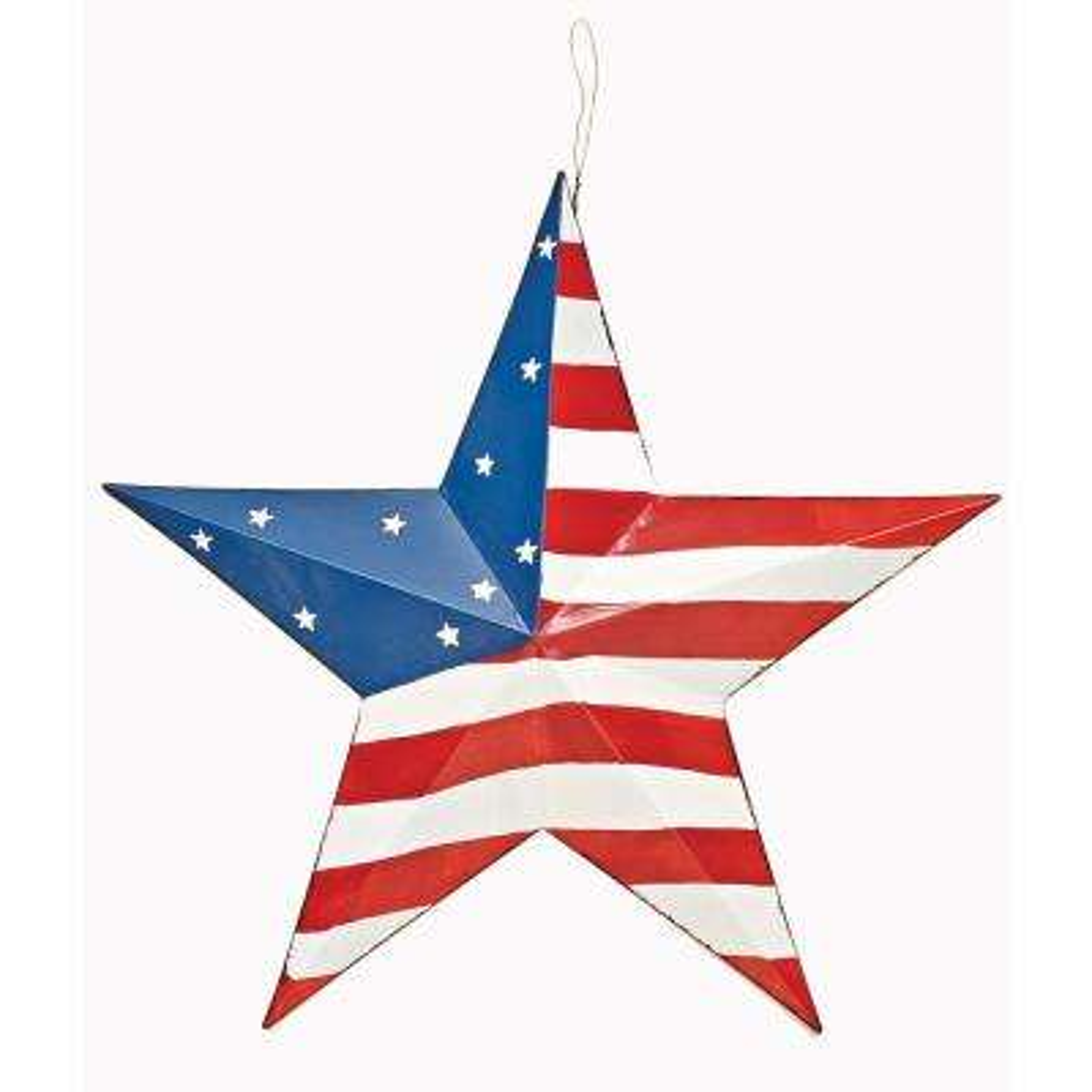 16 in. Tin Americana Star B