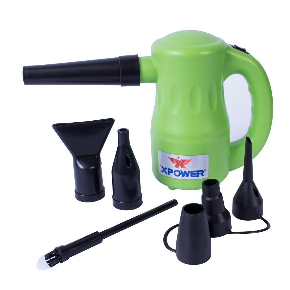 xpower a 2 airrow pro multi purpose air duster in green a 2 green the home depot. Black Bedroom Furniture Sets. Home Design Ideas