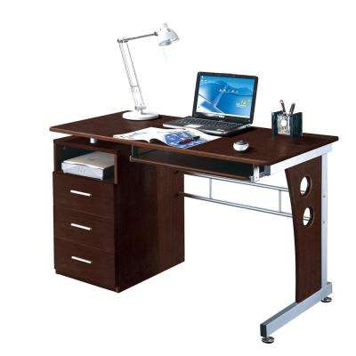 Chocolate Computer Desk With Ample Storage