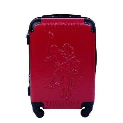 U.S Polo Assn. 21 in. Red Hard Case Spinner Rolling Suitcase