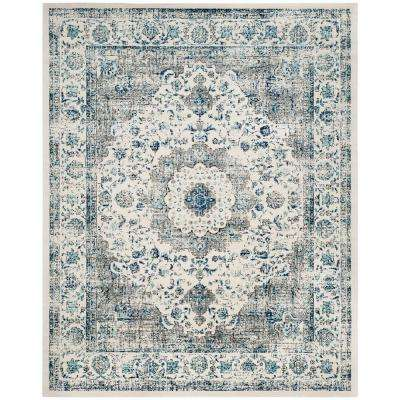 Elegant Evoke Grey/Ivory 6 Ft. 7 In. X 9 Ft. Area Rug