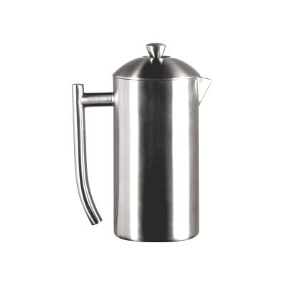 6-Cup Brushed Finish Stainless Steel French Press