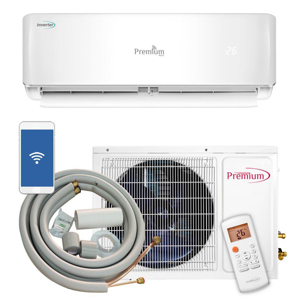 Premium 12000 Btu 1 Ton Ductless Mini Split Air Conditioner 110v York Heat Pump Low Voltage Wiring Diagram 60hz