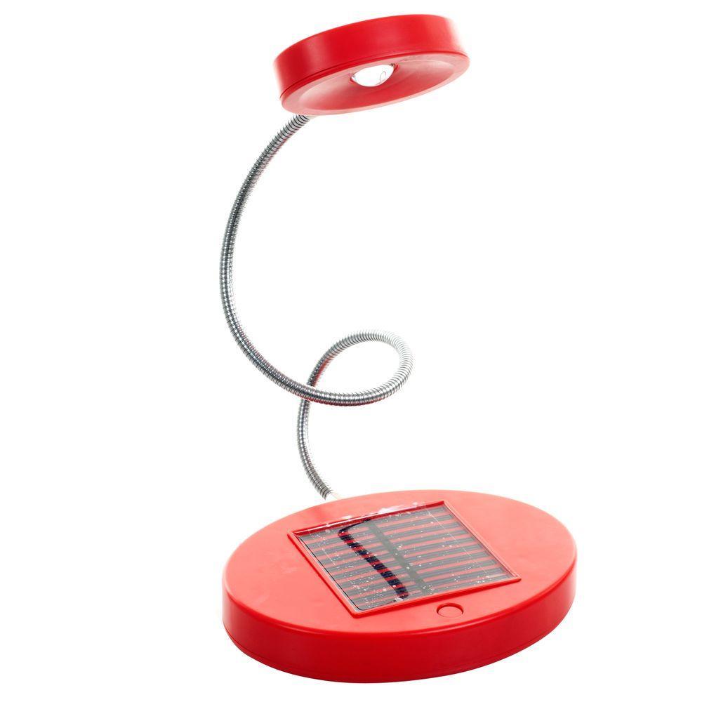 15.5 in. Red LED Desk Lamp