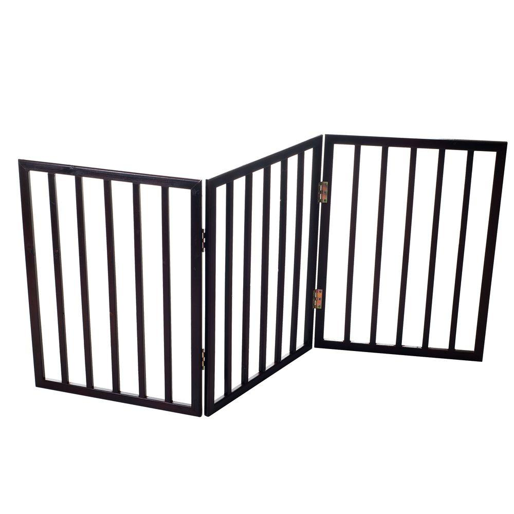 PAW 53 in. x 24 in. Wood Folding Pet Gate