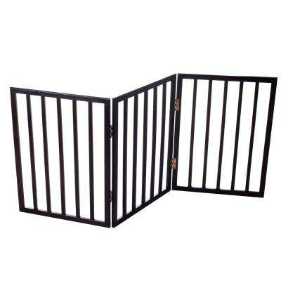 53 in. x 24 in. Wood Folding Pet Gate