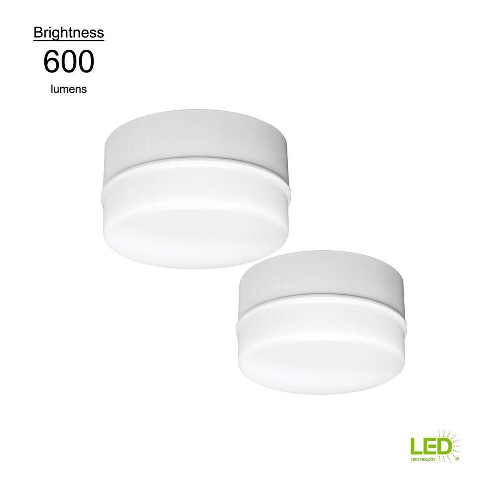 Lightbulb Replacement 5 in. Round White 50 Watt Equivalent Integrated LED