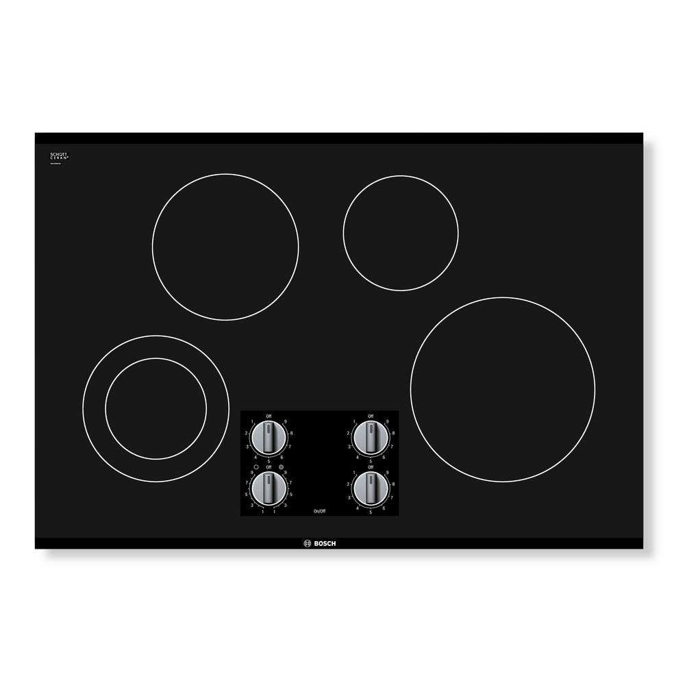 500 Series 30 in. Radiant Electric Cooktop in Black with 4