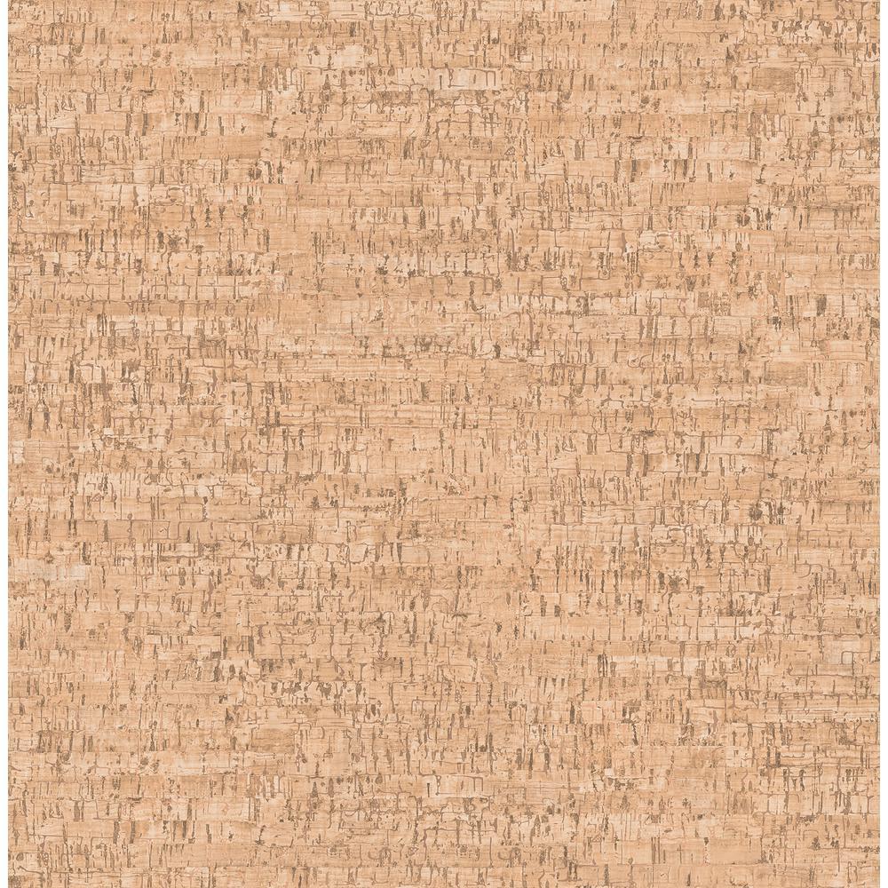 Henrique Orange Faux Cork Wallpaper Sample
