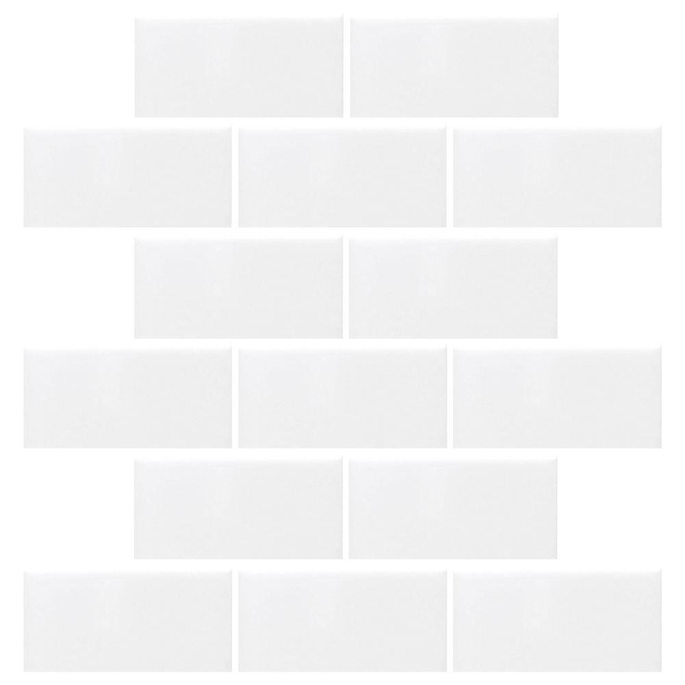 Daltile Restore Bright White 12 in. x 12 in. x 6.35 mm Ceramic Mosaic Wall Tile