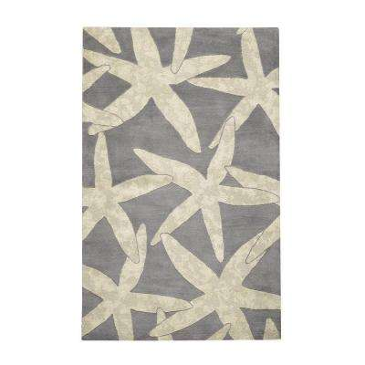 Starfish Grey 2 ft. x 3 ft. Area Rug