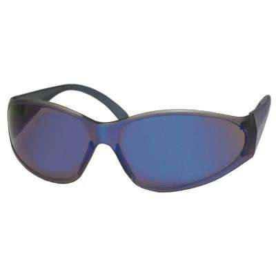 Boas Original Eye Protection Blue/Blue Temple/Frame and Blue Mirror Lens