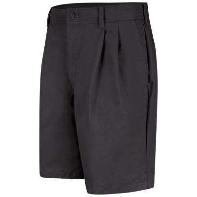 Men's Size 42 in. x 10 in. Black Pleated Front Short