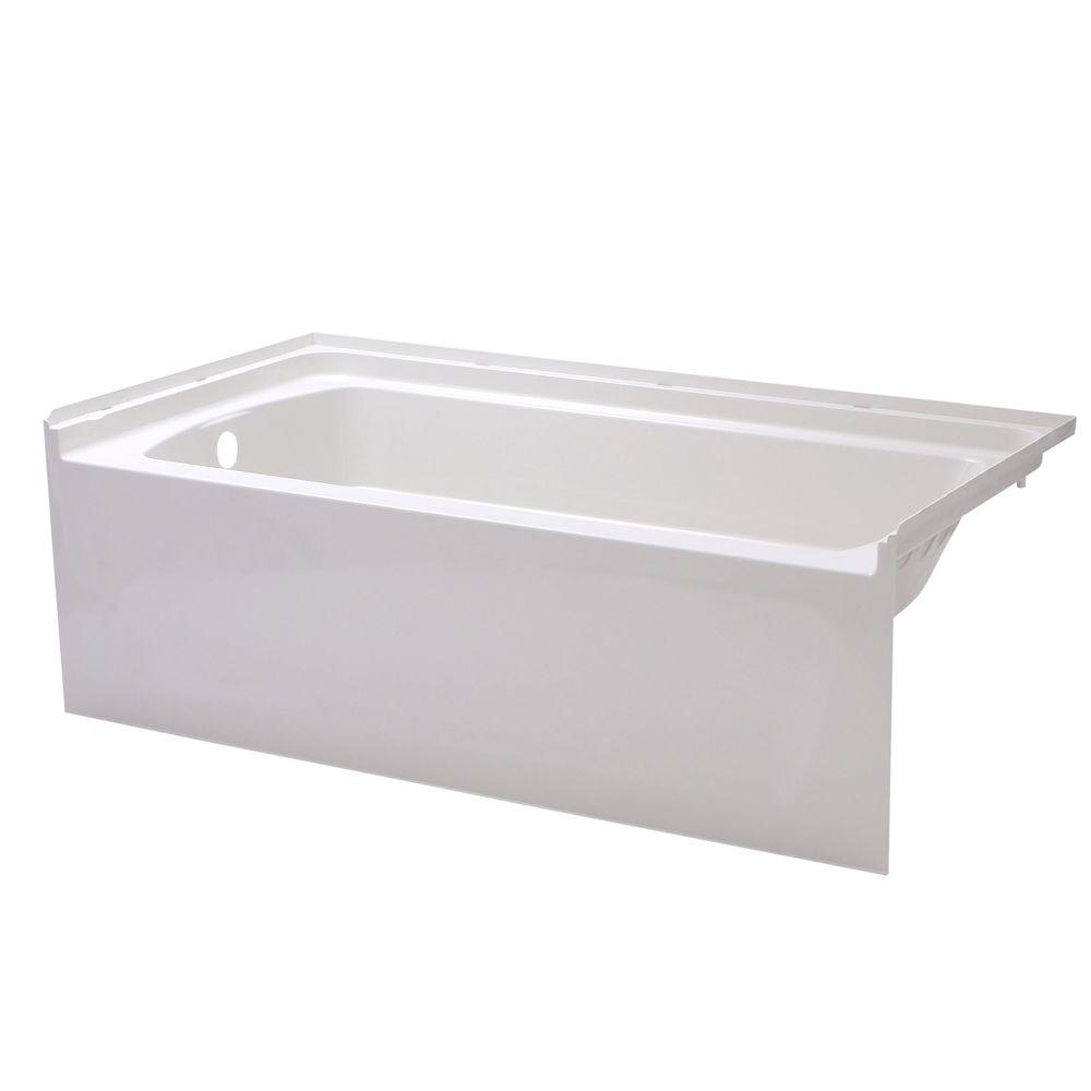 STERLING Ensemble 5 ft. Left Drain Rectangular Alcove Bathtub in ...