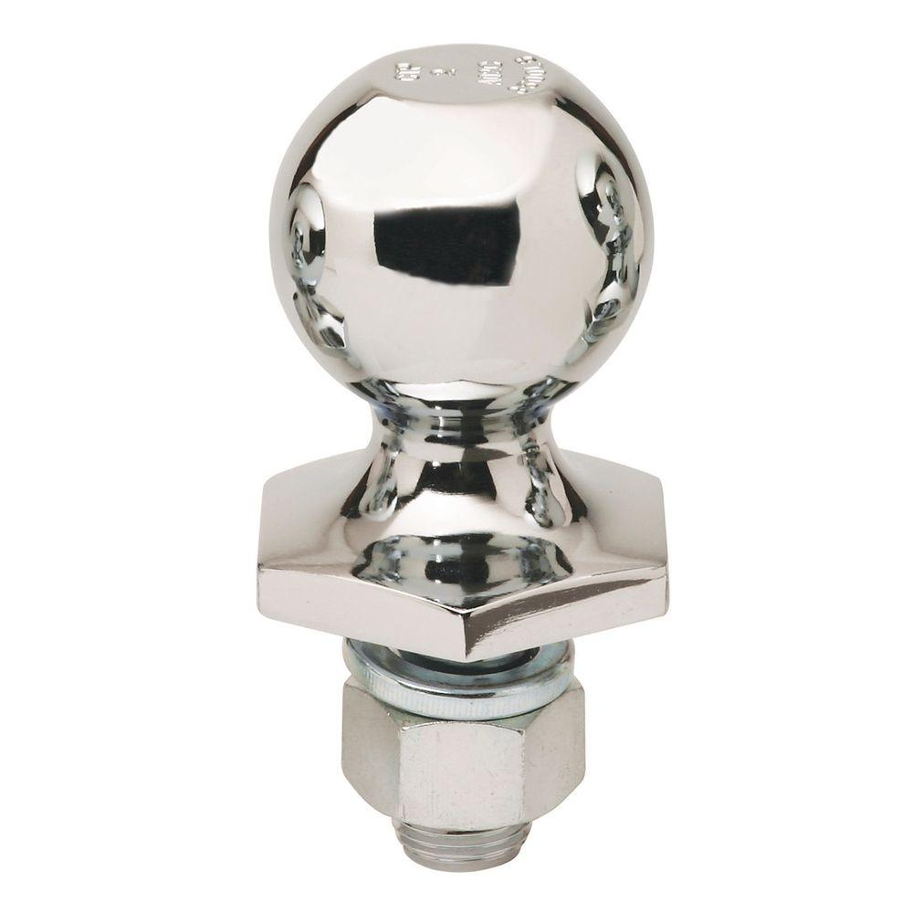 Reese Towpower 2 in. Steel Interlock Hitch Ball in Chrome