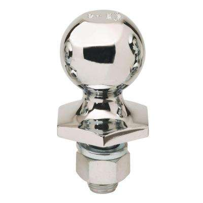 2 in. Steel Interlock Hitch Ball in Chrome