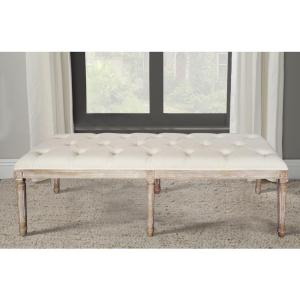 Christie's Oversized Beige French Bench