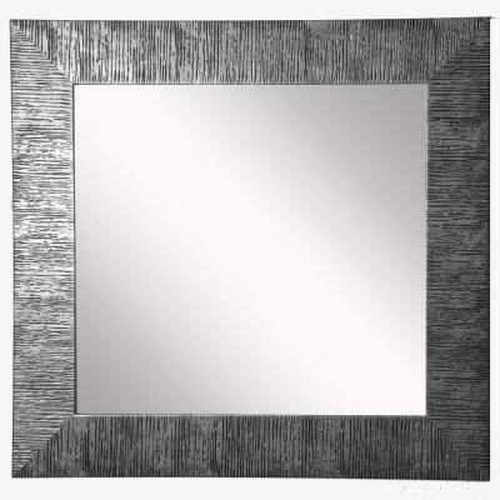 16 in. W x 16 in. H Framed Square Bathroom Vanity Mirror in Silver