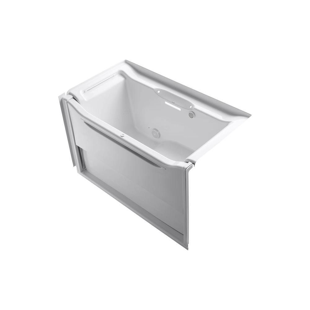 KOHLER Elevance 5 ft. Air Bath Tub in White