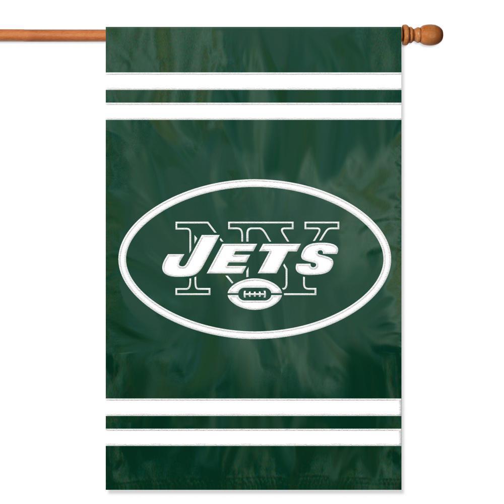 New York Jets Applique Banner Flag